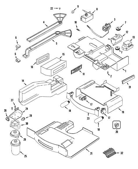 maytag refrigerator parts diagram controls diagram parts list for model gs2727gah1 maytag