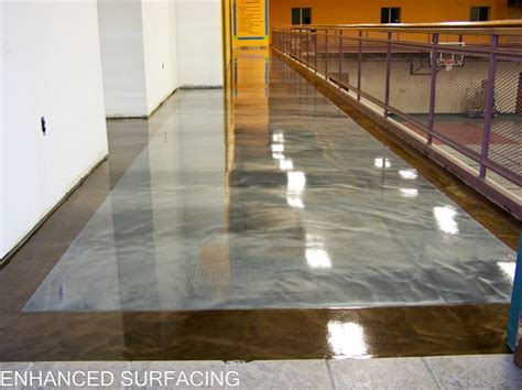 concrete resurfacing staining epoxy flooring bowling
