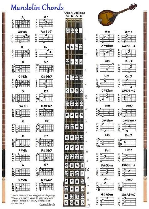 mandolin chord chart mandolin chords chart note locator fretboard small