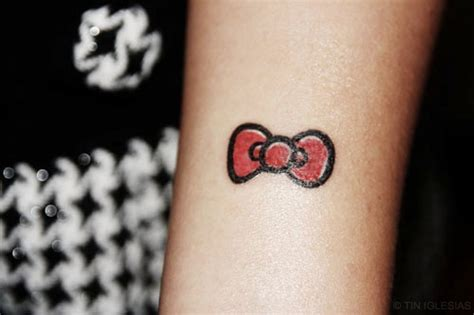 hello kitty tattoo on wrist bow images designs