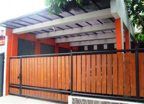 desain pagar kayu ulin minimalis sederhana model desain pagar kayu minimalis modern