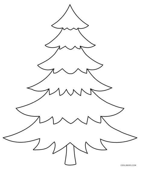 large printable xmas tree printable christmas tree coloring pages for kids