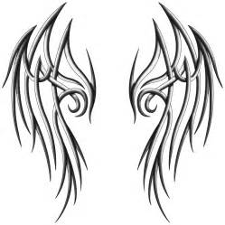 tribal angel wings drawing clipart best