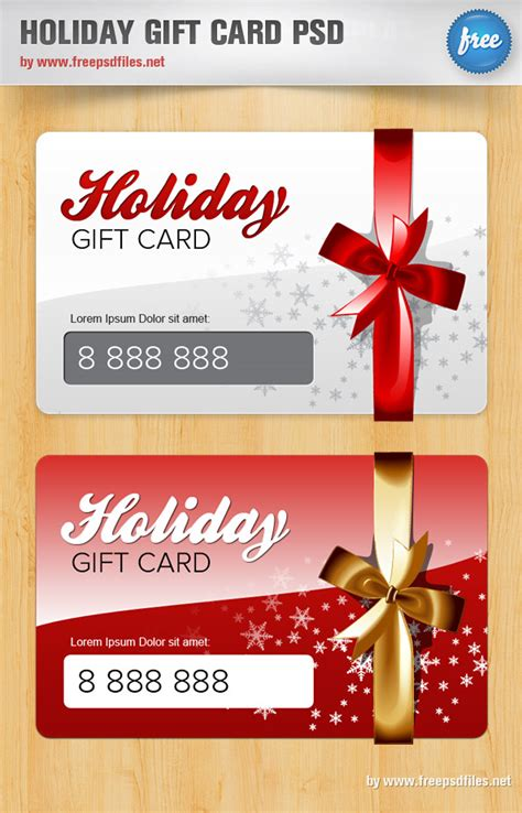 gift card template free psd gift card psd template free psd files