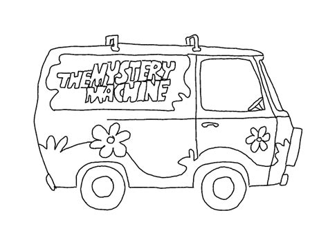 Mystery Machine Coloring Page printable coloring pages mystery machine coloring pages