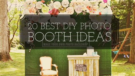best ideas 20 diy best photo booth ideas youtube