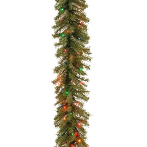 best xmas lighted garlands 100ft national tree company 9 ft norwood fir artificial garland with 100 multi color lights nf 9brlo