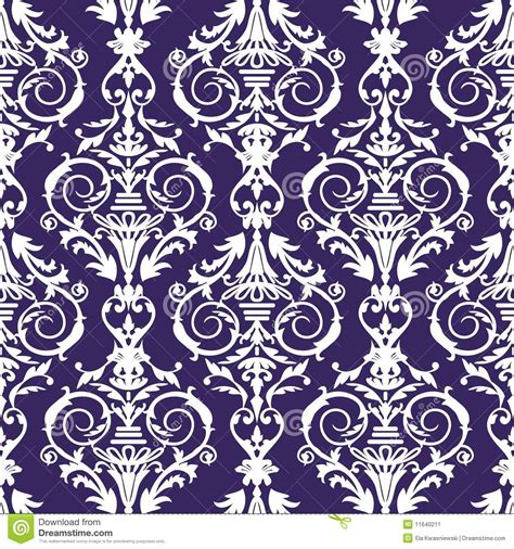 pattern baroque vector baroque seamless pattern vector illustration stock image