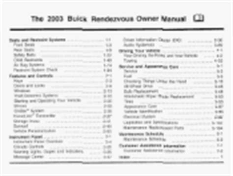 where to buy car manuals 2003 buick rendezvous spare parts catalogs 2003 buick rendezvous how to reset service lights that s already been serviced 2003 buick