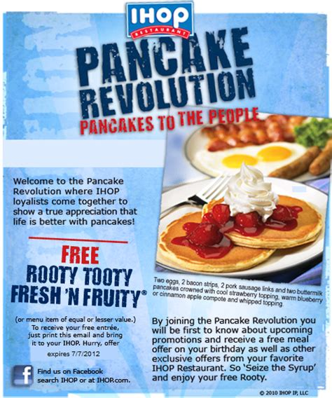 printable restaurant coupons july 2015 the penniless prima donna free pancakes at ihop