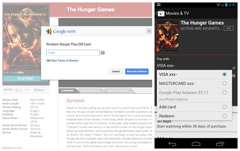 Redeem Google Play Gift Card - redeem showing up in play store for google play gift cards
