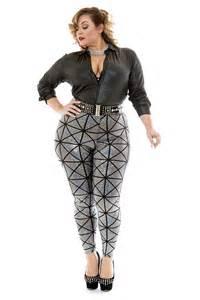 quot kamie quot textured leggings in gun metal from rue107 plus