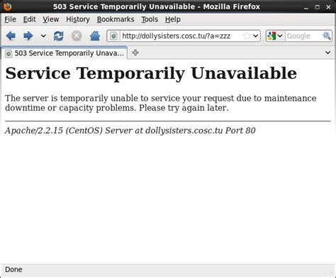 service unavailable 301 moved permanently