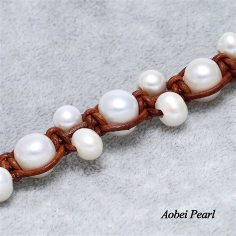 Handmade Pearl Bracelet - aobei pearl handmade freshwater pearl bracelet on