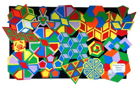 Polygon Paper Folding - origami in lessons artful maths