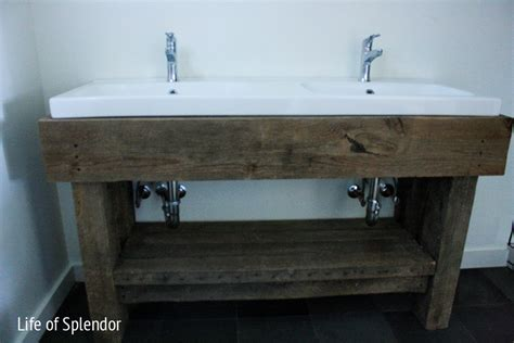 how to make a rustic bathroom vanity inspired design challenge week 4 anthropologie end table