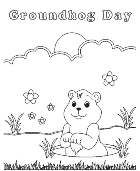groundhog day coloring pages free printable az coloring