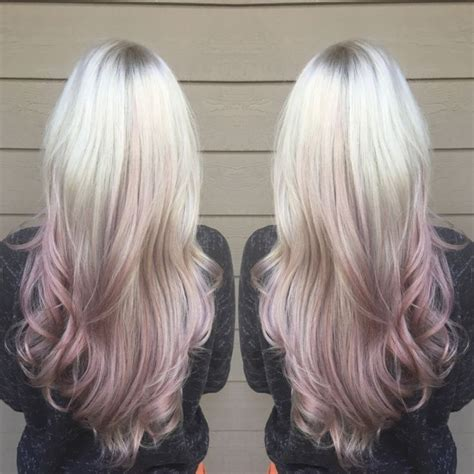 Bloude Dusty Pink gold dusty purple ombr 233 hair hair with