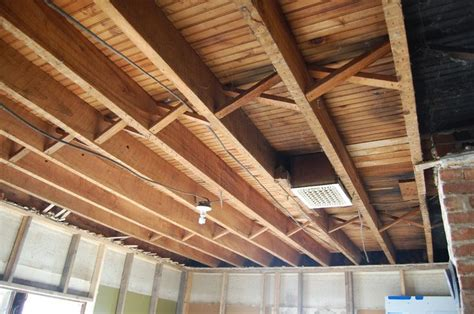 Rafter Ceiling by 1st Floor Exposed Ceiling Joists Soundproofing An