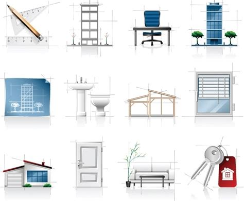 interior architectural sketches icon vector free vector in