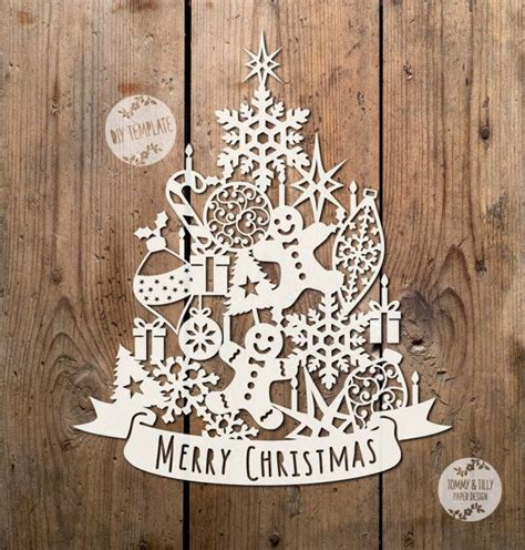 christmas trees to cut yourself svg pdf assorted tree design papercutting vinyl template to cut yourself
