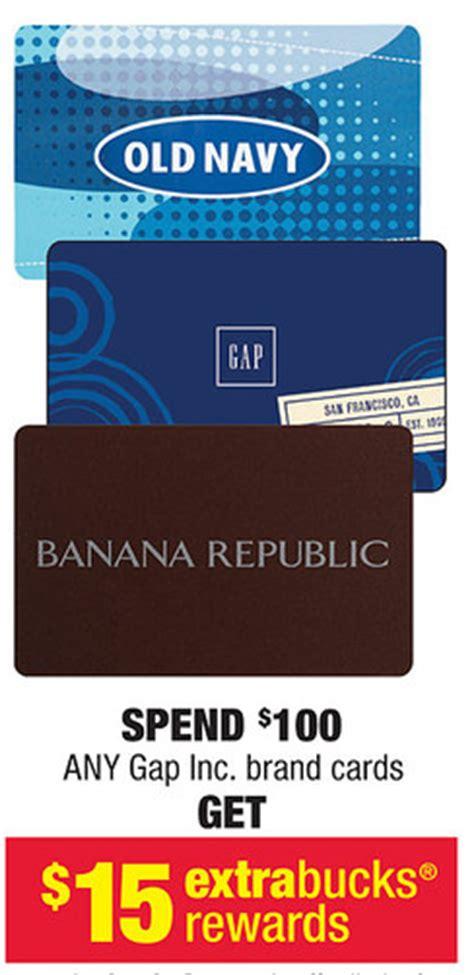 Gap Old Navy Banana Republic Gift Card - good deal on old navy gap and banana republic gift cards at cvs who said nothing in