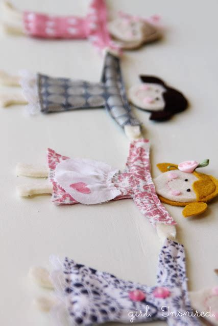 friendship house garland little doll garland girl inspired