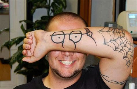 tattoo higgins family guy peter griffin arm tattoo 187 funny bizarre amazing