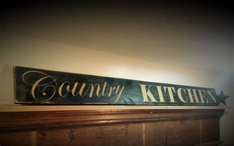 country kitchen sign rustic kitchen sign country signs - Country Kitchen Signs