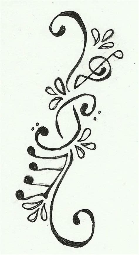 tattoo designs you can draw music tattoo love this ashlee thunk you can draw