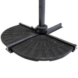 Patio Umbrella Base Weights Patio Banana Hanging Cantilever Umbrella Parasol Base Weights Stand 2 Segments Ebay