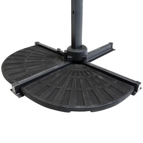 Offset Patio Umbrella Base Weights Patio Banana Hanging Cantilever Umbrella Parasol Base Weights Stand 2 Segments Ebay