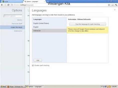 chrome bahasa indonesia mengubah bahasa inggris di google chrome ke bahasa