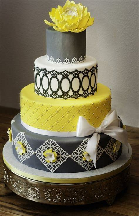 yellow and silver wedding cakes 25 best ideas about yellow wedding cakes on