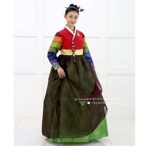 Dress Anak Korean Rainbow hanbok korean traditional dress korea wedding rainbow stripe ebay