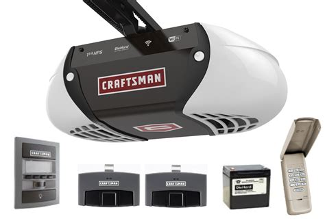 Smart Garage Door Openers by Craftsman 1 1 4 Hp Smart Garage Door Opener