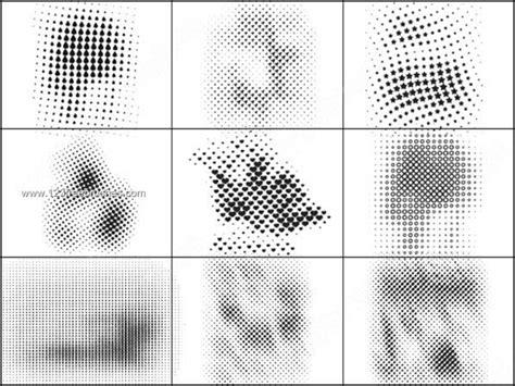 halftone line pattern photoshop halftone elements vector photoshop brushes 123freebrushes