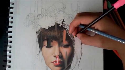 imagenes realistas dibujo realista con lapices de colores desintegracion de