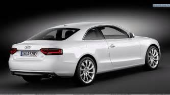 side back pose of white 2012 audi a5 coupe wallpaper