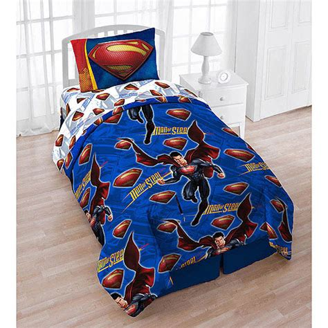superman twin bedding tote bag set 5pc dc comics