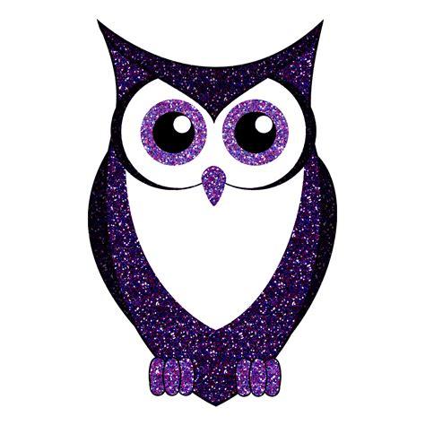 Owl Purple glitter owl purple blue silhouette animal sticker 5 quot