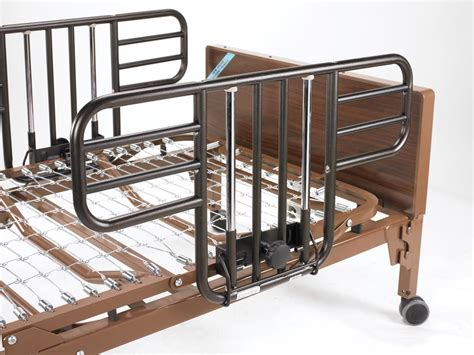drive no gap deluxe half length side bed rails with brown vein finish brown