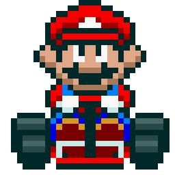 super mario kart mario (gamebanana > sprays > game