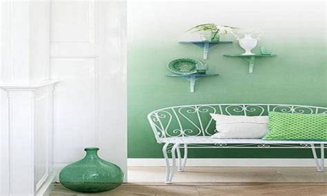 Mood lights for bedroom, green ombre painted wall purple