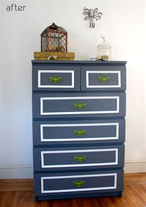 malm dresser painted before after ikea dresser redo painted desk design