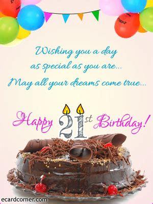 Happy 21 Birthday Wishes 21st Birthday Greetings Ecardcorner