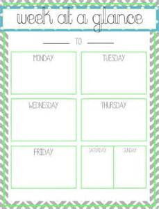 week at a glance printable this that