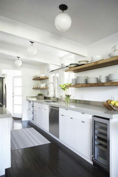 open shelving instead of upper cabinets for the home