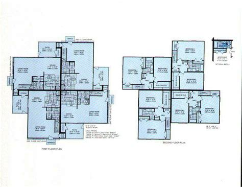 4 plex floor plans 4plex house plans house plans home designs