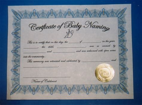 Naming Certificates Free Templates universal church baby naming certificates